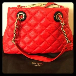 Kate Spade quilted purse Red
